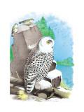 The Snow Owl Veggoverføringsbilde av Theodore Jasper