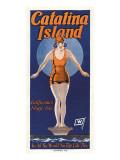 Catalina, plongeuse, 1925 Autocollant mural
