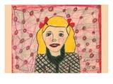 Golden Hair Girl Wall Decal by Norma Kramer