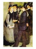 Leaving The Conservatoire Seinätarra tekijänä Pierre-Auguste Renoir