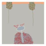 Birdbath Meeting Autocollant mural