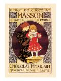 Depot de Chocolat Masson: Chocolat Mexicain Wall Decal by Eugene Grasset