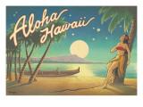 Aloha Hawaii Väggdekal av Kerne Erickson