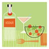 Vodka and Salad Seinätarra