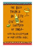 Best Things in Life Margarita Decalcomania da muro
