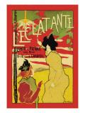 L'Eclatante, The Brilliant Lamp Väggdekal av Manuel Robbe