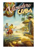 Varadero, Cuba Muursticker van Kerne Erickson