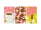Tea Time Patterns Triptych Seinätarra