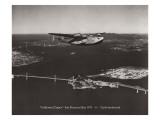 California Clipper, San Francisco Bay, California 1939 Adesivo de parede por Clyde Sunderland