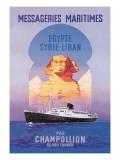 Messageries Maritimes Egypt-Syria-Lebanon Cruise Line Wallstickers