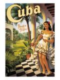 Cuba Autocollant mural par Kerne Erickson