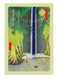 Cascata Decalcomania da muro di Ando Hiroshige