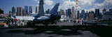 Tourist Near Aircraft Carrier, Intrepid Sea Air Space Museum, USS Intrepid, New York City, NY, USA Wallstickers af Panoramic Images,