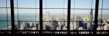City as Seen through a Window, Chicago, Illinois, USA Wallstickers