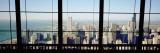 City as Seen through a Window, Chicago, Illinois, USA Seinätarra