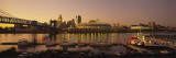 Buildings Lit Up at Dusk, Cincinnati, Ohio, USA Wallstickers af Panoramic Images,