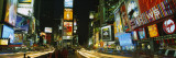 Neon Boards in a City Lit Up at Night, Times Square, New York City, New York, USA Wallstickers af Panoramic Images,