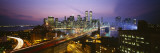 Buildings Lit Up at Night, World Trade Center, Manhattan, New York City, New York, USA Wallstickers af Panoramic Images,
