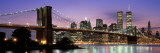 Brooklyn Bridge New York Ny, USA Wallstickers af Panoramic Images,