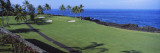 Golf Course at the Oceanside, Kona Country Club Ocean Course, Kailua Kona, Hawaii, USA Wallstickers af Panoramic Images,