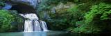 Waterfall in a Forest, Lison River, Jura, France Decalcomania da muro