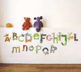 動物アルファベットウォールステッカー・壁用シール ウォールステッカー