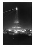 Eiffel Tower at Night Wall Decal by William H. Rau