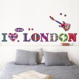 J'adore Londres Autocollant mural