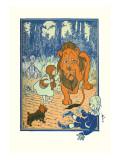 The Cowardly Lion Decalcomania da muro di William W. Denslow