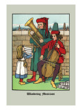 Wandering Musicians, c.1873 Wall Decal by J.e. Rogers