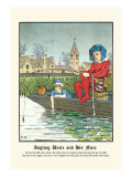 Angling Uncle and His Niece, c.1873 Wall Decal by J.e. Rogers
