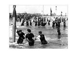Coney Island Surf Crowd Wall Decal by William H. Rau