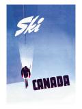 Ski Canada Seinätarra tekijänä P. Ewart