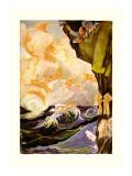 The Cloud Fairies Veggoverføringsbilde av John R. Neill