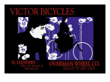 Victor Bicycles: Overman Wheel Company Wall Decal by William H. Bradley