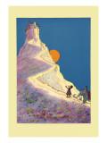 Castle on a Mountain Veggoverføringsbilde av John R. Neill