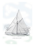Six-Beam Cutter Sail Plan Wall Decal by Charles P. Kunhardt