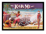 Kar-Mi Swallows a Loaded Gun Barrel and Shoots a Cracker from a Man's Head Wandtattoo von Joseph B. Hallworth
