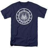 Battle Star Galactica- Scratched Bsg Logo T-Shirt