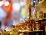 Tea Set for Sale at Grand Bazaar Photographic Print by Jean-pierre Lescourret