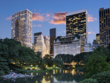 Central Park South at Night Premium fotoprint van Jean-pierre Lescourret