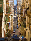 Street in Valletta Photographic Print by Jean-pierre Lescourret