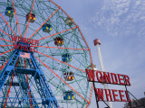 Historic Wonder Wheel Fairground, Coney Island Reproduction photographique par Christopher Groenhout