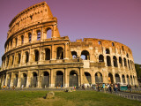 Visitors at the Colosseum Photographic Print by Glenn Beanland