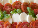 Tomatoes, Basil and Mozzarella Cheese Fotografie-Druck von Olivier Cirendini