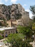 The Santa Maria De Montserrat, Benedictine Abbey on Montserrat Mountain Fotografisk trykk av Dennis Johnson