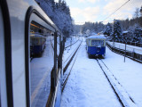 Cogwheel Railway Ascending Zugspitze, Bavarian Alps Photographic Print by Doug McKinlay