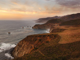 Bixby Bridge Seen from Hurricane Point Along the Big Sur Coastline Fotografisk trykk av Douglas Steakley
