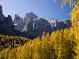 Peaks of Gruppo Del Sella Range, Seen from Near Corvara Fotografie-Druck von Glenn Van Der Knijff