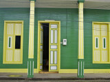 Restored Building in Green, Yellow and White Photographic Print by Frank Carter